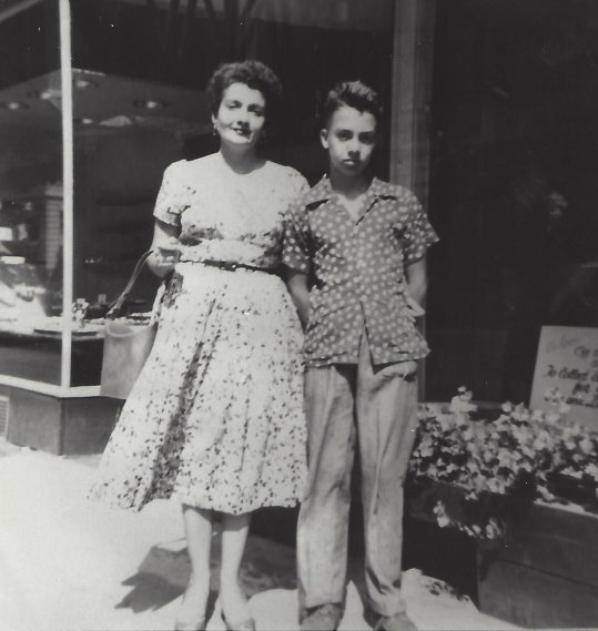 Vince, age 14 with his mother.